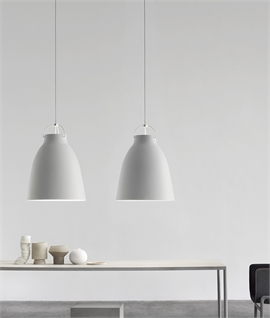 Caravaggio Light Grey Matt Lacquer Pendants