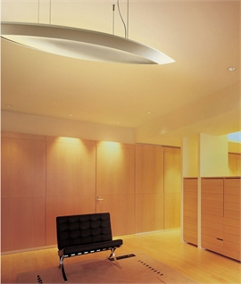 Wide Suspended Plaster Pendant - 2m