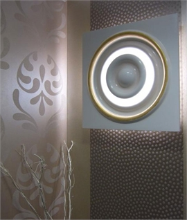 Large Square Backlit Plaster Wall Panel - Verner
