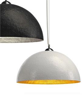 Fibreglass Dome Pendant - Glossy Paint Finishes