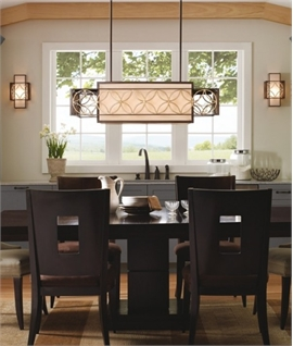 dining room ceiling lighting. Box Wide Ceiling Light - Arts \u0026 Craft Design Dining Room Lighting N