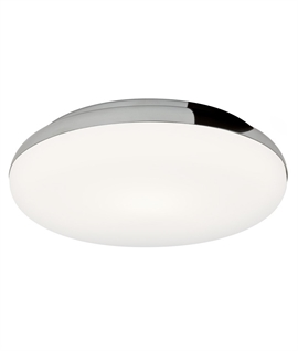 Round Low Profile Chrome Drum Light IP44