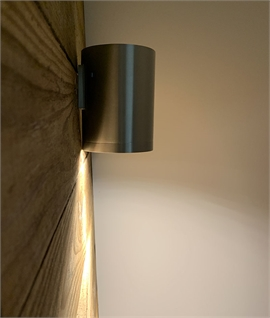 Large Brushed Aluminium Wall Light - Up or Down Light