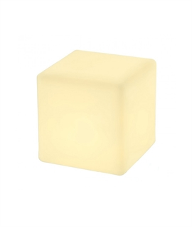 Opal Cube Light for Gardens - IP44 Rated