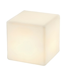 Frosted Glass Effect Cube Light - IP44 Rated