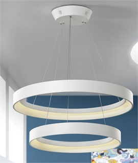 Uber Modern Double Circle LED Pendant