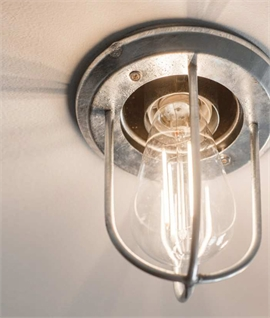 Industrial Design Bare Bulb Ceiling Light - Recessed Installation
