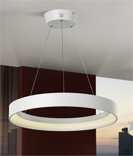 uber modern circlular led pendant. Black Bedroom Furniture Sets. Home Design Ideas