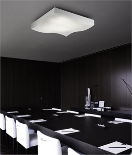 Flush Square LED Ceiling Light - 800mm