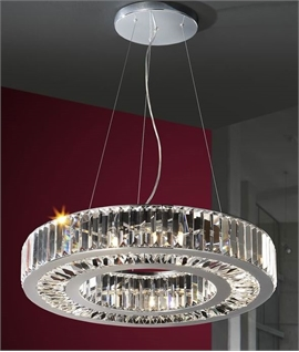 Schuller Corona Chrome & Crystal Glitzy Pendants