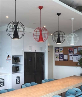 Latitude LED Cage Pendant by Innermost
