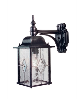Hanging Leaded Glass Wall Lantern