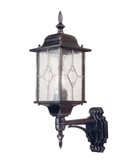 Leaded Glass Wall Lantern