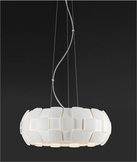 Pendant Light with Fluted Detailing