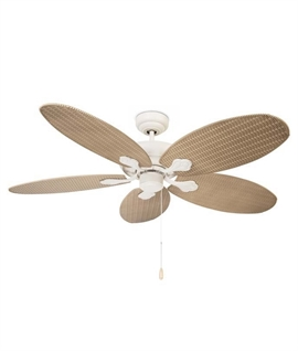 Rattan Style Ceiling Fan - No Light