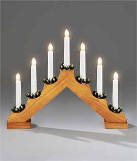 Traditional Wooden Christmas Candle Arch