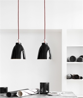 Caravaggio Black High-Gloss & Red Flex Pendants