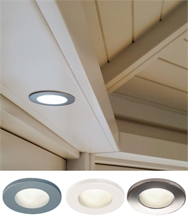 Mains IP65 Round Frosted Glass Downlight - 3 Finishes
