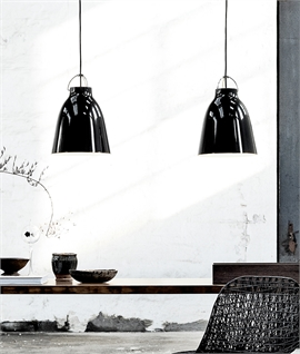 Caravaggio Black High-Gloss & Black Cord