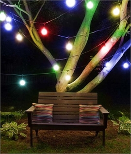 Linkable Christmas Multi-Coloured Festoon Lights