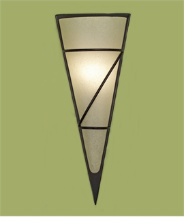 Conical Wall Sconce - Chalked Opal Glass in Dark Frame