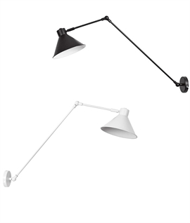 Long Reach Adjustable Metal Wall Light