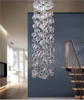 Glycerine Stunning Long Drop LED Glass Ball Pendant - Drop 1100mm