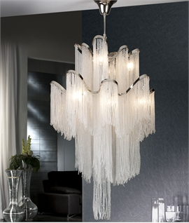Large Long Drop Crystal Feature Light