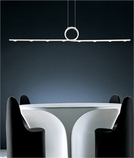 Curl LED Pendant - White or Cement Grey