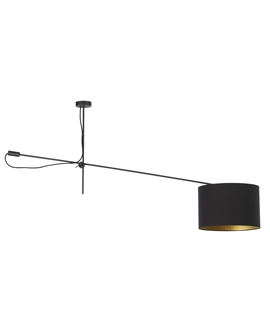 Off-Set Ceiling Pendant with Shade - Two Colours