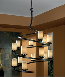 Long Drop Ironwork Spiral Light