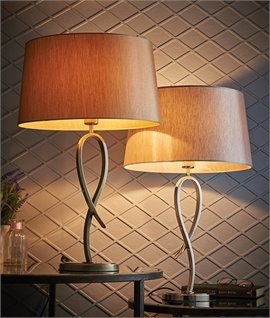 Elegant Loop Table Lamp - Brass or Nickel