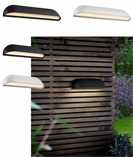 Wide Outdoor LED Wall Washer - Two Finishes