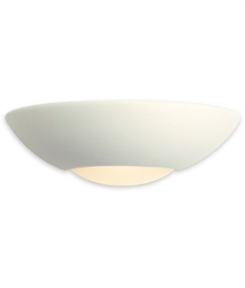 Half Moon Ceramic Wall Light - Low Energy