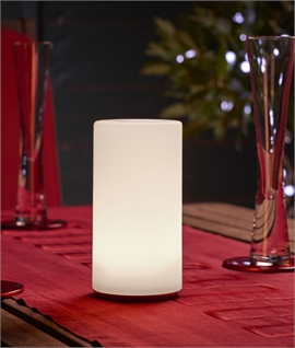 Luxury Colour Changing Pillar Table Lamp - Wireless Charging