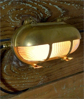 Marine Eyelid Wall Light - Brass or Antique Brass