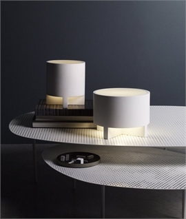 Martello White Plaster Table Lamp