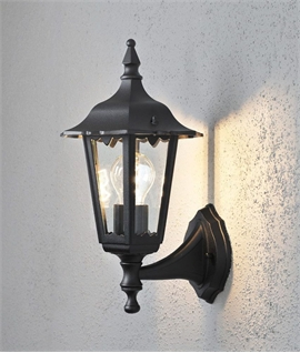 Matt Black Classic External Wall Lamp