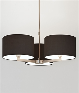 Matt Nickel Fixed Drop Chandelier - Two Sizes