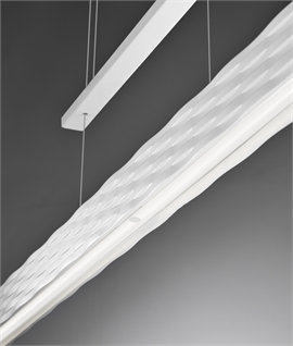 Matt White Rise & Fall LED Linear Suspended Light