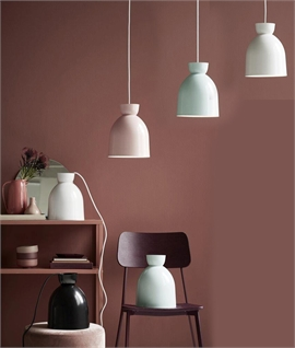 Bell Cloche Metal Light Pendants - in Pastel Colours and Black
