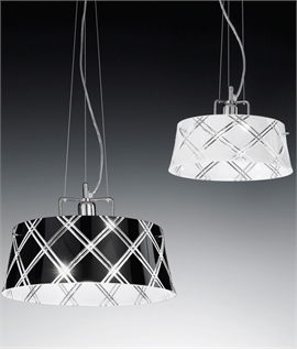 Cut Glass Metallic Pendants - Two Sizes