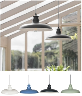French Styled Interior Pendant Light - Wide Shade