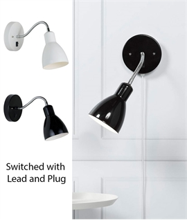 Adjustable Lamp Head Switched Metal Wall Light