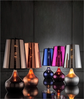 Metallic Table Lamp with Shade - Five Finishes