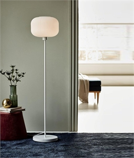 Opal Lined Glass Shade Floor Lamp