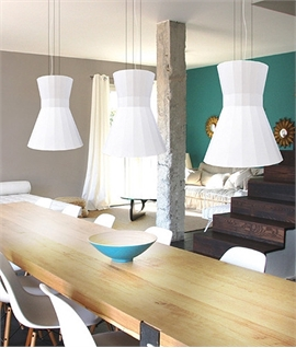 Hour Glass Light Pendant for GU10 Lamps - Plaster
