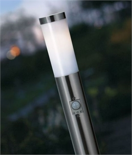 Mini Garden Bollard Light with PIR