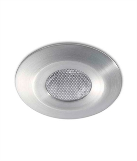 Mini Brushed Chrome LED Niche Light