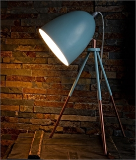 Retro Steel Tripod Table Lamp - Two Finishes